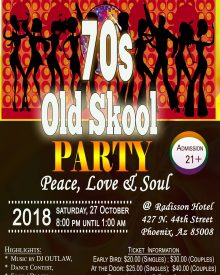 70s Old Skool Party Oct. 27