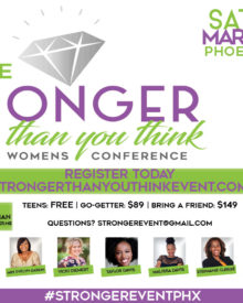 """""""You Are Stronger Than You Think"""" 5th Annual Women's Conference Mar. 9"""